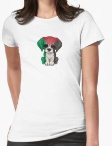 Cute Patriotic Palestine Flag Puppy Dog Womens Fitted T-Shirt