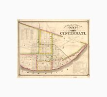 Vintage Map of Cincinnati Ohio (1841) Unisex T-Shirt