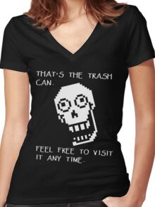 Papyrus - Undertale Quotes Women's Fitted V-Neck T-Shirt