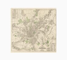 Vintage Map of Cincinnati Ohio (1915) Unisex T-Shirt