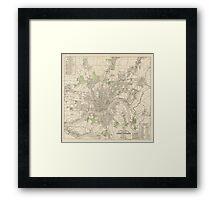 Vintage Map of Cincinnati Ohio (1915) Framed Print