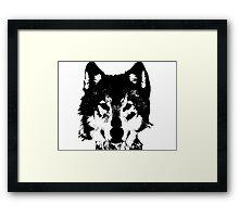 Loup Noir et Blanc Framed Print