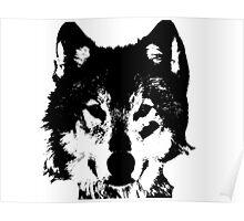 Loup Noir et Blanc Poster