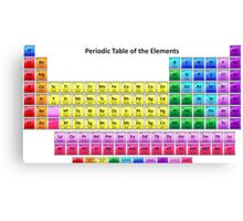 Shiny Periodic Table of the Chemical Elements Canvas Print