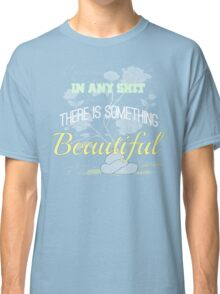 Funny Inspirational Vintage Joking Roses From Poop Design   Classic T-Shirt