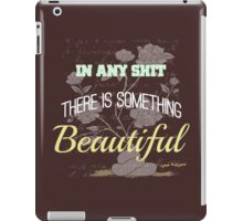 Funny Inspirational Vintage Joking Roses From Poop Design   iPad Case/Skin