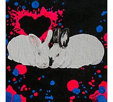 Bunny Anytime Valentines-Design Ten Photographic Print