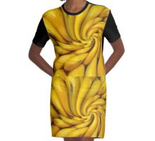 Lemon Twist Graphic T-Shirt Dress