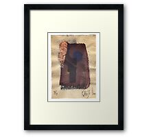 Black and Blue and Copper. 2016. Framed Print