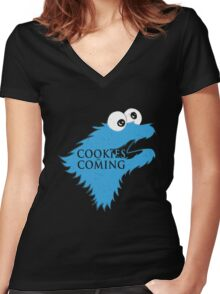 Cookies Are Comming Women's Fitted V-Neck T-Shirt