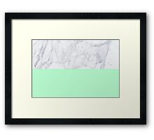 Mint Marble Framed Print
