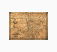 Vintage Map of Cincinnati Ohio (1838) Unisex T-Shirt