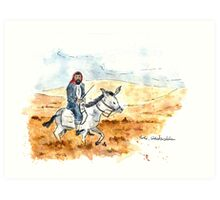 Steppenreiter (Steppe Rider) Art Print