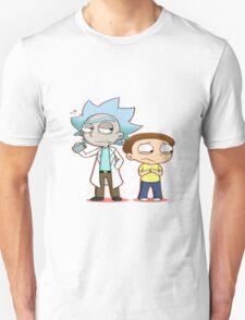 Chibi Rick And Morty Unisex T-Shirt