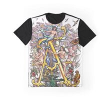 The Illustrated Alphabet Capital A (Fuller Bodied) from THE ILLUSTRATED MAN Graphic T-Shirt
