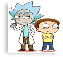 Chibi Rick And Morty Canvas Print
