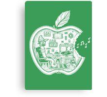 The Apple Core (white) Canvas Print