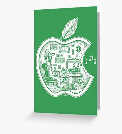 The Apple Core (white) Greeting Card