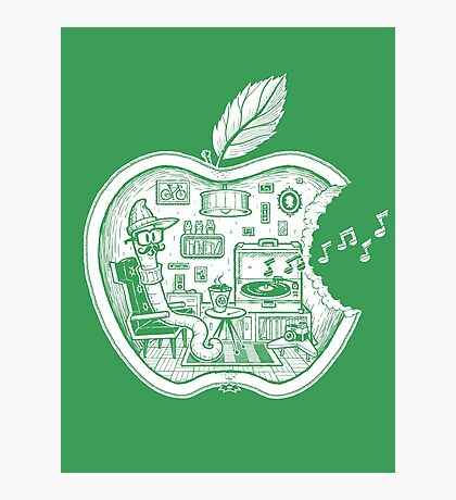 The Apple Core (white) Photographic Print