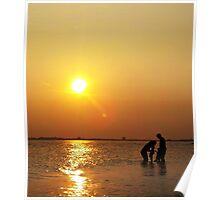 Summertime Family Sunset Poster