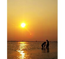 Summertime Family Sunset Photographic Print