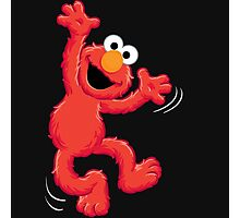 Elmo Happy Photographic Print