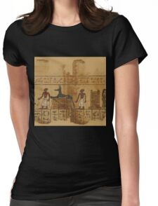 A Page from the Egyptian Book of the Dead Womens Fitted T-Shirt