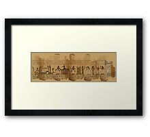 A Page from the Egyptian Book of the Dead Framed Print