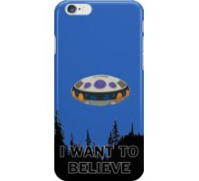 I want to believe - Frieza spaceship iPhone Case/Skin