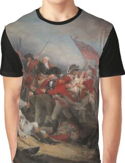 The Battle at Bunker's Hill by John Trumbull Graphic T-Shirt