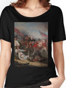 The Battle at Bunker's Hill by John Trumbull Women's Relaxed Fit T-Shirt