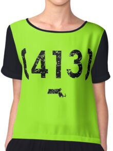 Area Code 413 Massachusetts Chiffon Top