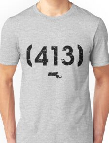 Area Code 413 Massachusetts Unisex T-Shirt