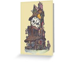 The Clock Makers Home Greeting Card