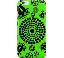 Pre-Colombian Aztec Tribal Frog Pond Pattern iPhone Case/Skin