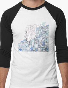 Abstracted Female Portrait Men's Baseball ¾ T-Shirt