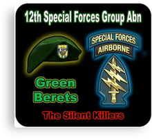 12th Special Forces Group (Abn) Canvas Print