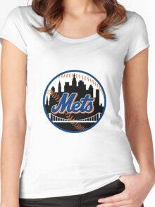 New_York_Mets2 Women's Fitted Scoop T-Shirt