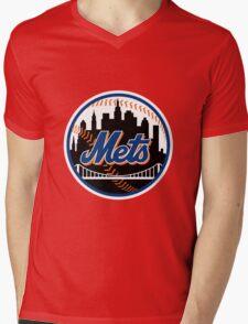New_York_Mets2 Mens V-Neck T-Shirt