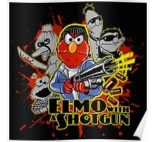 Elmo With Shotgun Poster