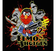 Elmo With Shotgun Photographic Print