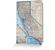 Vintage Map of California (1921) Greeting Card