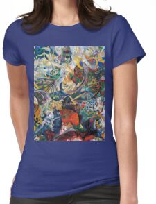 Abstract painting by Joseph Stella Womens Fitted T-Shirt