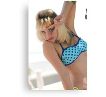 bikini blonde woman  Canvas Print