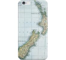 Vintage Map of New Zealand (1921) iPhone Case/Skin
