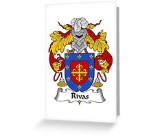Rivas Coat of Arms/Family Crest Greeting Card