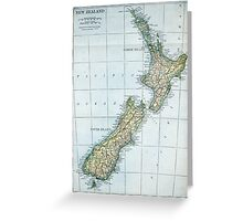 Vintage Map of New Zealand (1921) Greeting Card