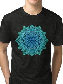 Mandala *green, blue & black* Tri-blend T-Shirt