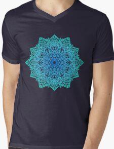Mandala *green, blue & black* Mens V-Neck T-Shirt