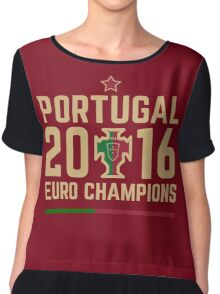 Portugal Euro 2016 Champions T-Shirts etc. ID-2 Women's Chiffon Top